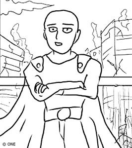 One Punch Man comic bad drawing